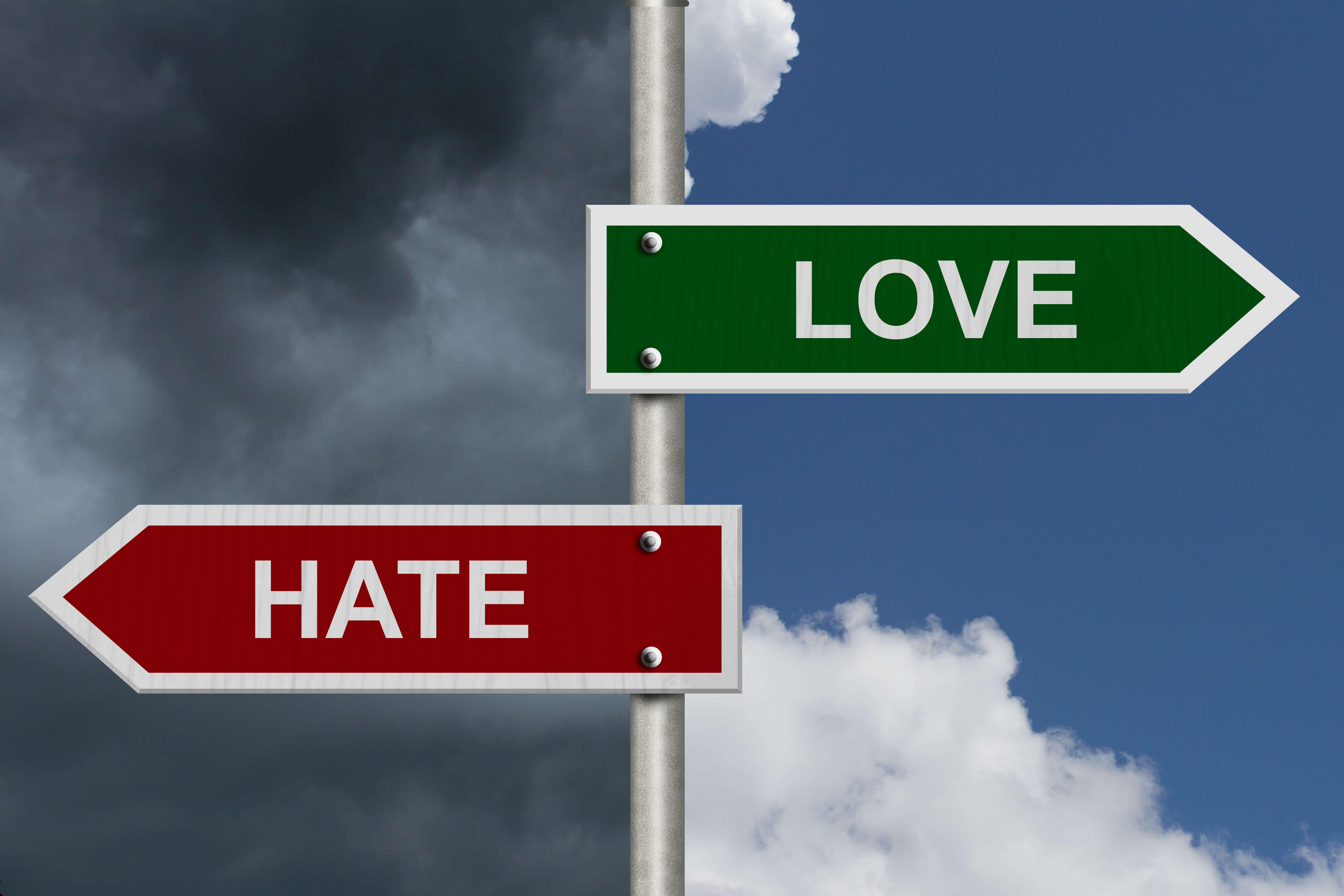 Love-Hate Sign